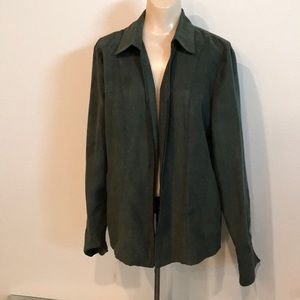 Croft & Borrow green zip up jacket size Large